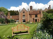 Chenies Manor House, a Tudor Grade I listed building, in springtime royalty free stock photo