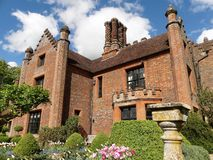 Chenies Manor House, a Tudor Grade I listed building, in springtime royalty free stock photography