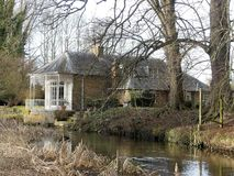 The Fisheries, Grade II Regency House by the River Chess royalty free stock photos