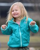 Portrait of happy little girl on St. Patrick`s Day