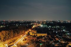 Above Solo City. This photo was taken from high one of high building in Solo City royalty free stock photo