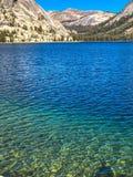 Magical View of Tenaya Lake. This photo was taken on the 120 Highway road, through Tioga Pass in Yosemite National Park. This is Tenaya Lake Stock Images