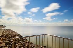 The water and cloudscape of Hulun lake. The photo was taken in Hulun lake,hulunbuir grassland the Nei Monggol Autonomous Region, China royalty free stock image