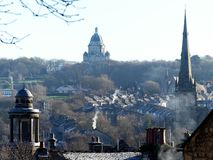 Rooftop view across the City of Lancaster royalty free stock photos