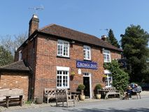 The Crown Inn, Highmore Cottages, Little Missenden royalty free stock image