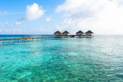 Best all-inclusive Maldives water-villa resorts in Maldives. This photo was taken in Maldives. All-inclusive resorts provide that wonderful feeling of luxury Royalty Free Stock Images