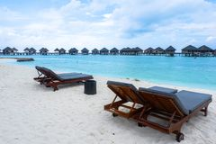 Best all-inclusive Maldives water-villa resorts in Maldives. This photo was taken in Maldives. All-inclusive resorts provide that wonderful feeling of luxury Stock Image