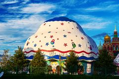 The buildings of Matryoshka square in the NZH Manzhouli city,China. The photo was taken in Matryoshka doll square of NZH Manzhouli in Inner Mongolia, China royalty free stock image