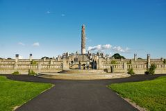 Vigeland park in the capital of Norway royalty free stock images