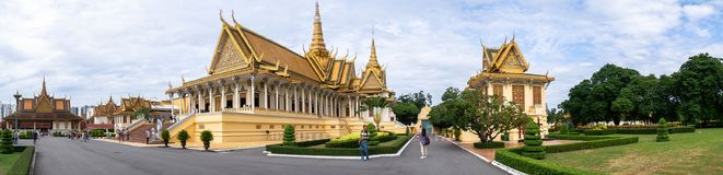 Structures of Royal Palace in Phnom Penh royalty free stock photography