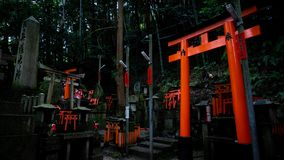 Little Shintos in the middle of Fushimi Inari royalty free stock image