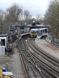 Chiltern Railways train at Rickmansworth Station platform royalty free stock photo