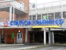 London Underground Station car park entrance, Rickmansworth stock photos
