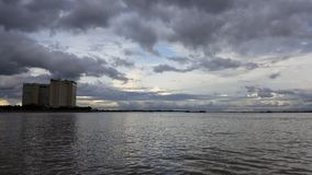 Mekhong river view in Phnom Penh stock photography