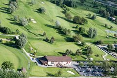 Golf field in Switzerland Royalty Free Stock Photography