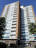 High rise flats at Abbey View, Garsmouth Way, Watford royalty free stock images