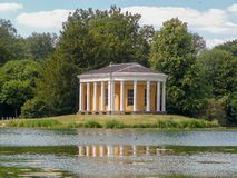 Music Temple on island at West Wycombe Park stock image
