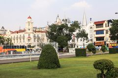 Maha Bandula Park in Yangon Stock Photography