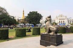 Maha Bandula Park in Yangon Stock Image