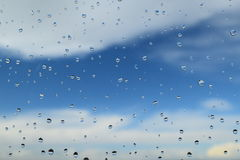 A photo of  water drops on a window pane Royalty Free Stock Photography