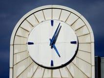 Photo of White Analog Building Clock Royalty Free Stock Image