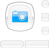 Photo white button. Royalty Free Stock Photography