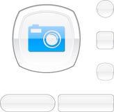 Photo white button. Photo white buttons. Set of illustration Royalty Free Stock Photography