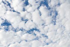 Photo of white cloudy sky Stock Images
