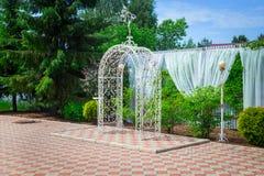 Metal wedding arch Stock Photography