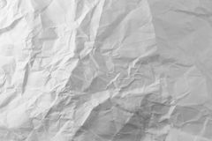 Photo white sheet of crumpled paper Stock Image