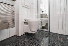 The photo of the white toilet bowl stock photography