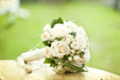 Photo of white wedding bouquet Royalty Free Stock Photography