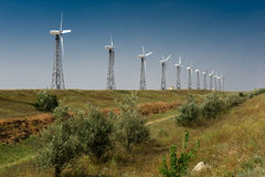 Photo wind generator Stock Photo