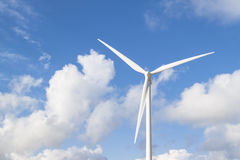 Photo of Wind power installation in sunny day Royalty Free Stock Image