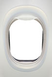 Photo of the window of airplane from inside Royalty Free Stock Image