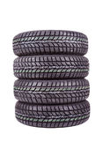 Photo of a winter car tire Royalty Free Stock Images