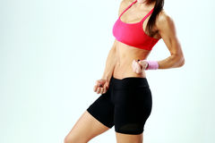 Photo of a woman body in good shape Royalty Free Stock Images