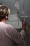 Photo of woman with drip Stock Images