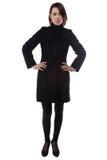 Photo of woman in fake karakul coat Royalty Free Stock Photo