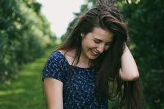 Photo of a Woman Holding Her Hair Stock Photography