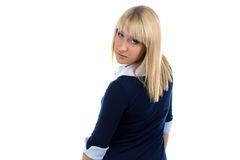 Photo of woman look back Stock Image