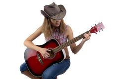 Photo of woman playing guitar Royalty Free Stock Image