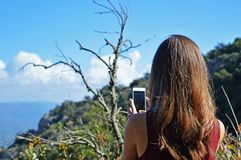 Photo of Woman Taking Photo Stock Images