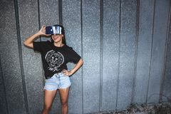 Photo of Woman Using Vr Headset Royalty Free Stock Photography