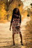 Photo of Woman Wearing Floral Dress stock photography