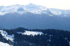 Photo of wonderful peaks of mountains Stock Images