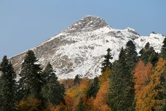 Photo of wonderful peaks of mountains Royalty Free Stock Images