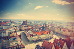 Photo of wonderful view of beautiful Wroclaw on the clear sky ba Royalty Free Stock Photography