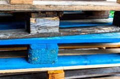 Wood crates colored royalty free stock photo