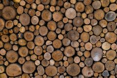 Wood ends background Royalty Free Stock Photos